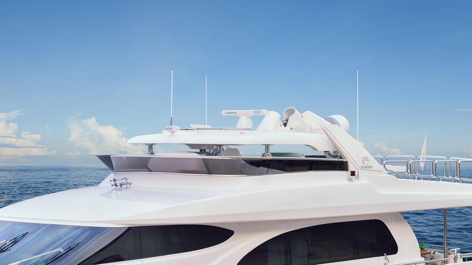 the-lowering-hard-top-on-horizon-yachts-e78