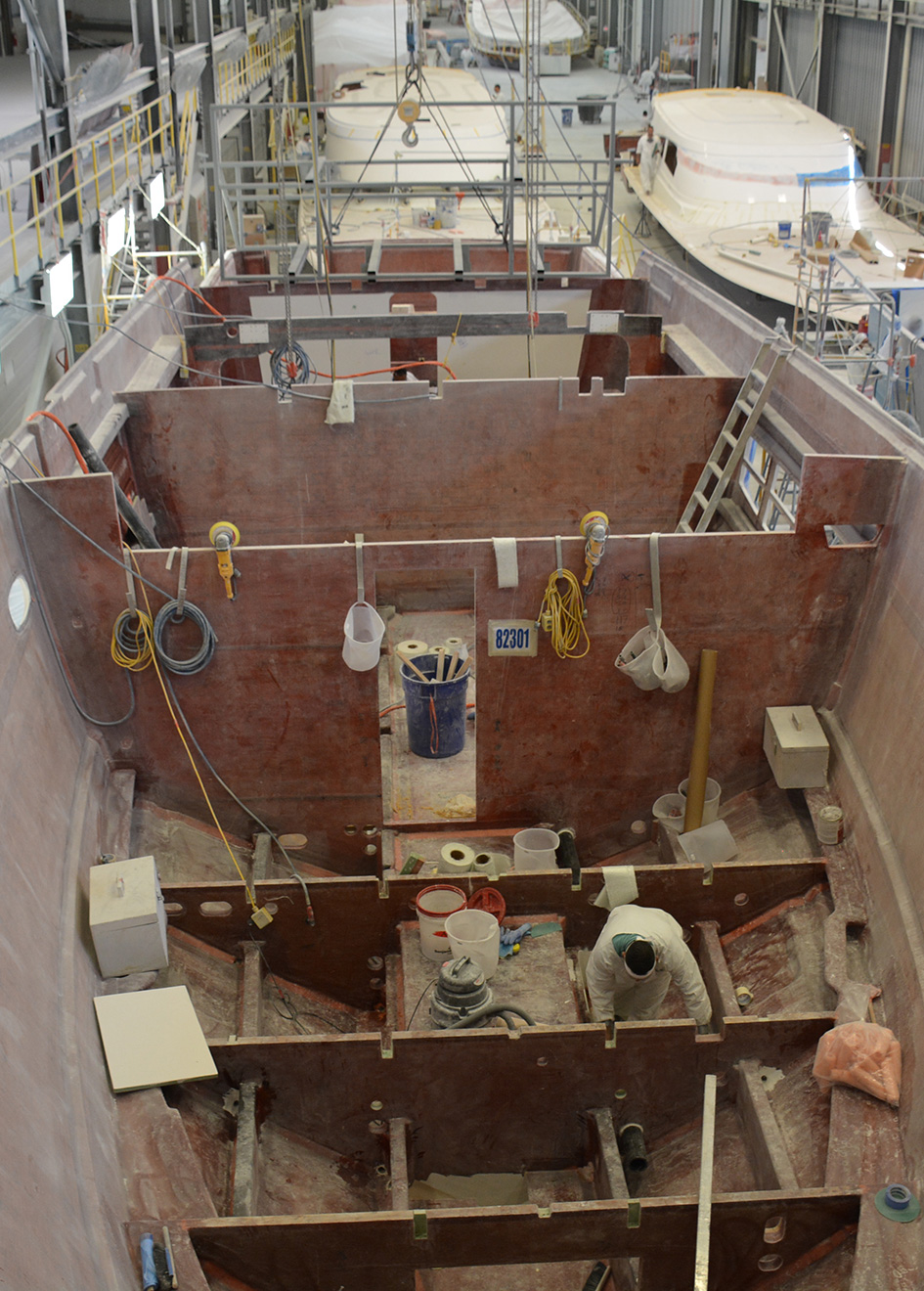 Viking 82 Motor Yacht behind the scenes
