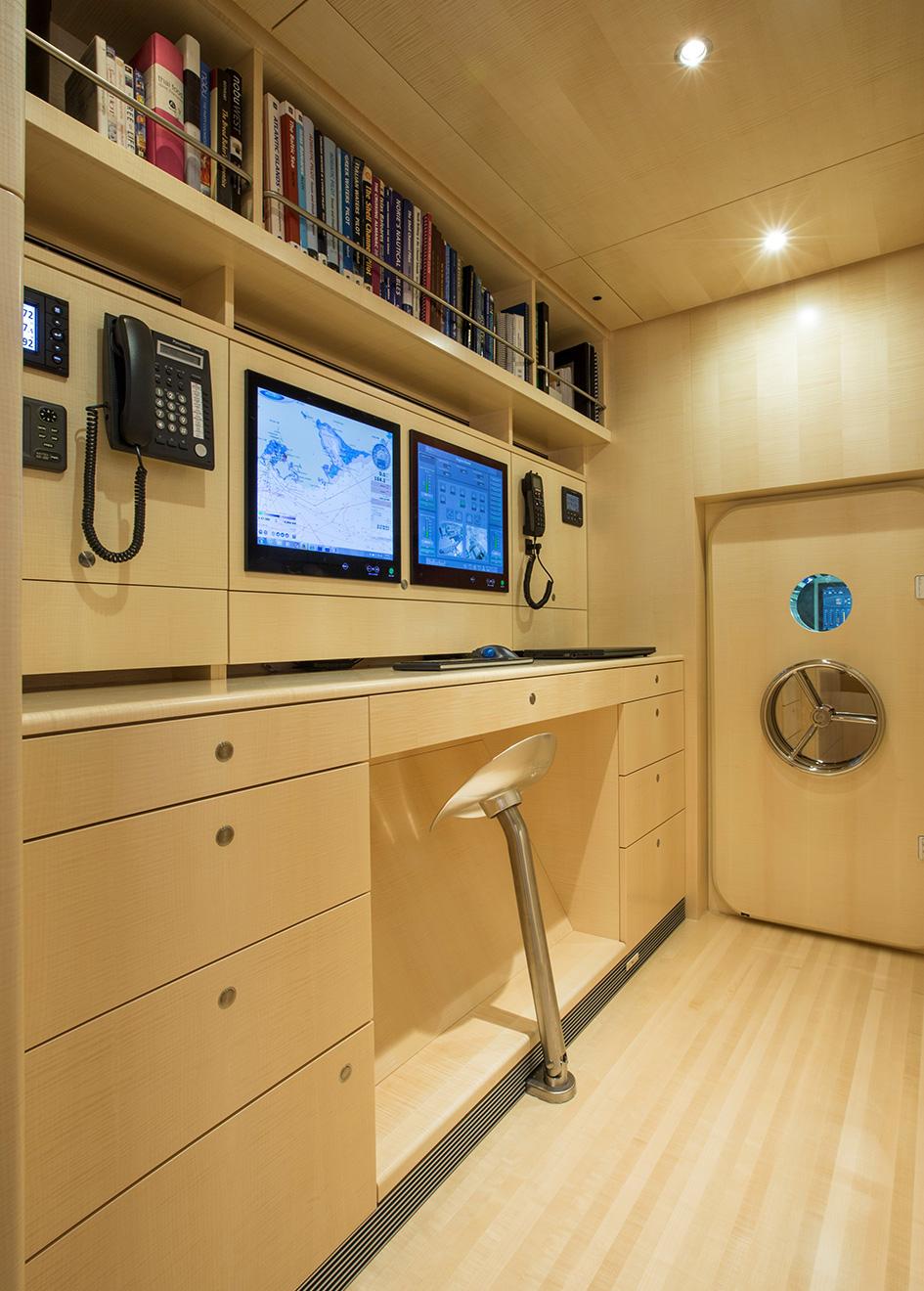 Unfurled Vitters sailing super yacht engineer's room