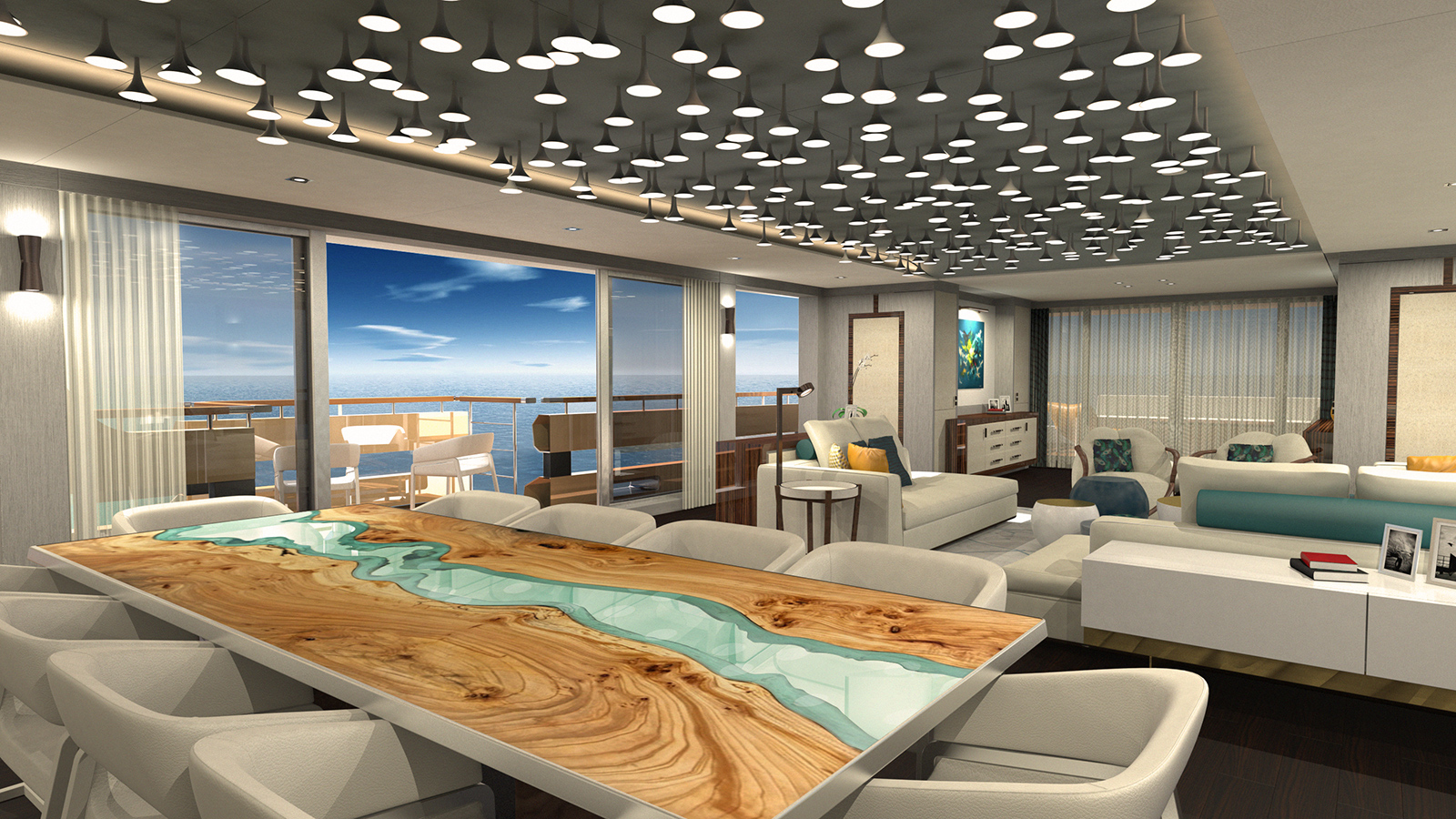 the-dining-area-of-the-couach-3800-lounge-explorer-yacht-concept