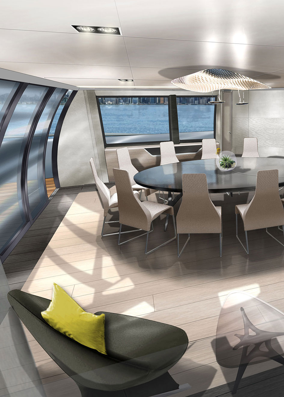 the-dining-area-of-the-mcconaghy-mc155-trimaran-concept
