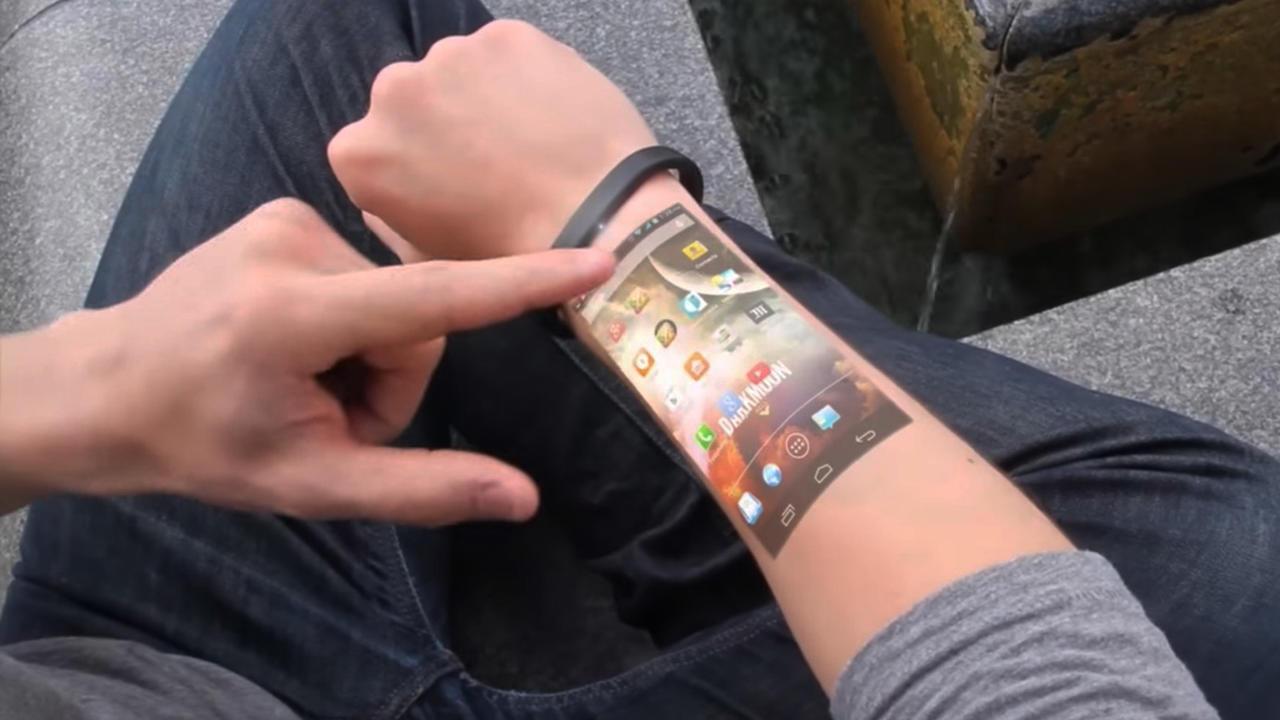 Smart cicret bracelet