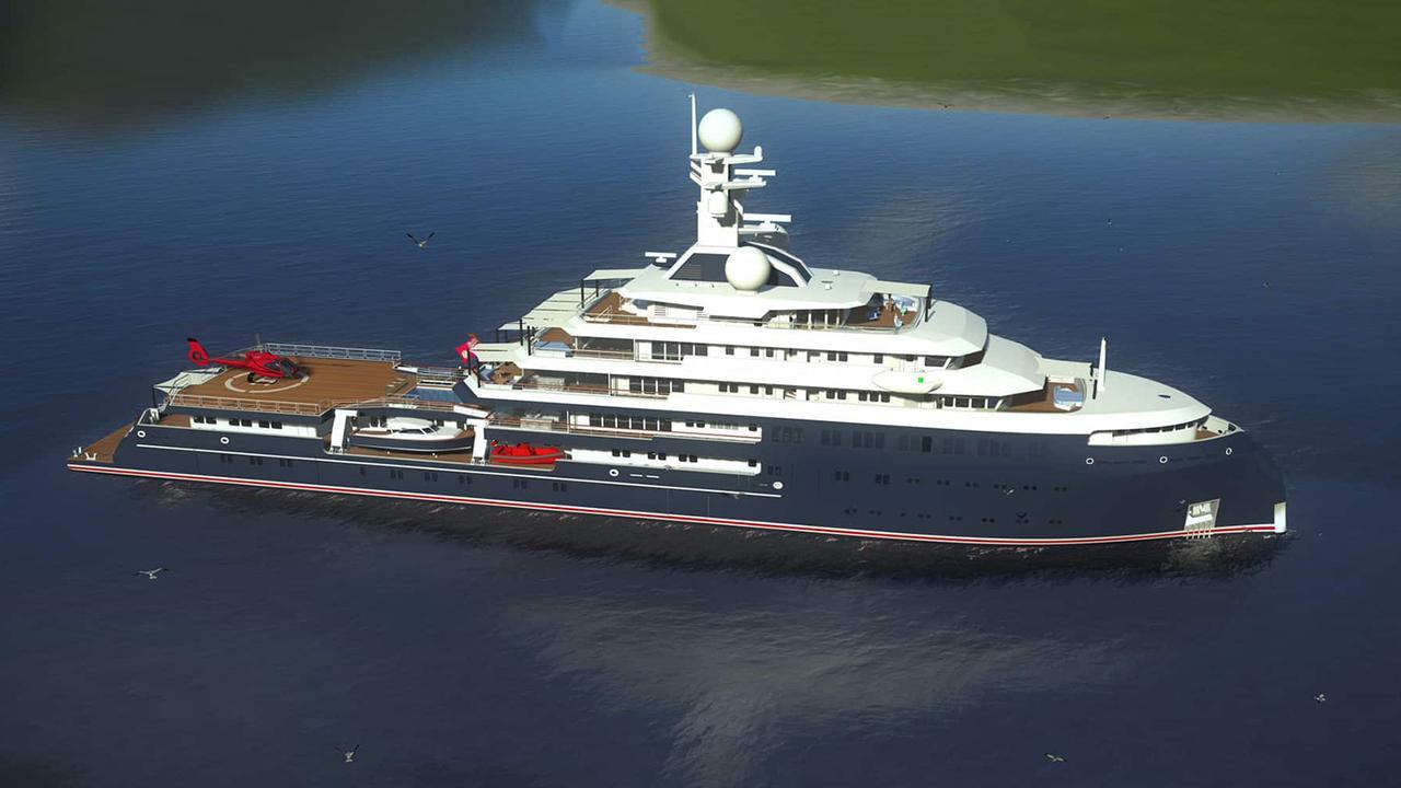 New rendering of 109m Lürssen superyacht Project Icecap released