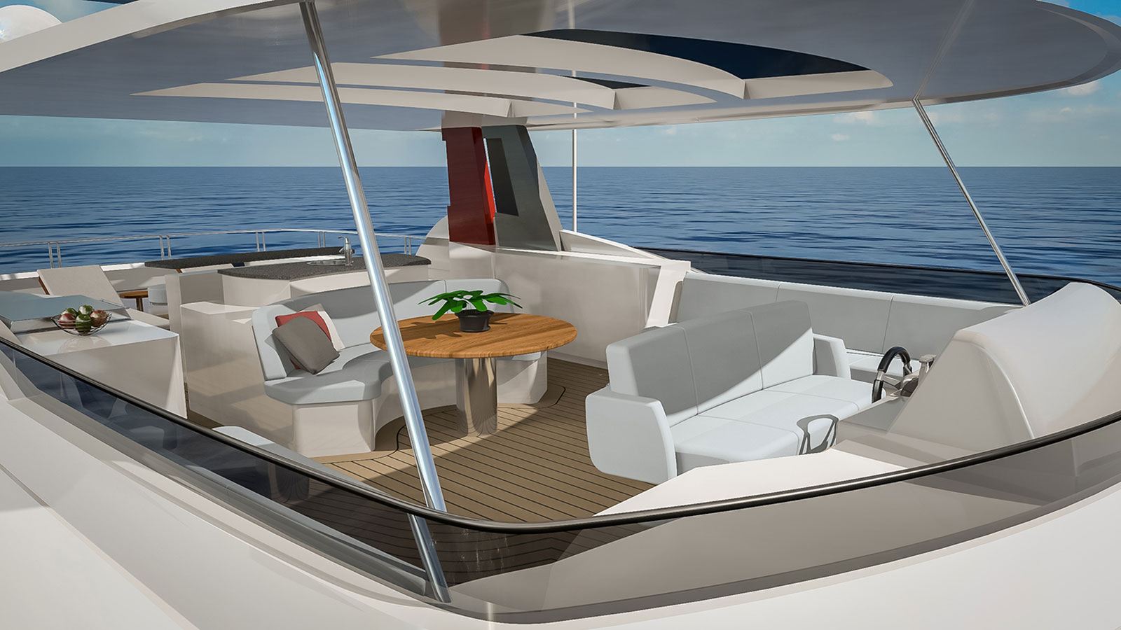 Outer Reef Trident 3000 flybridge