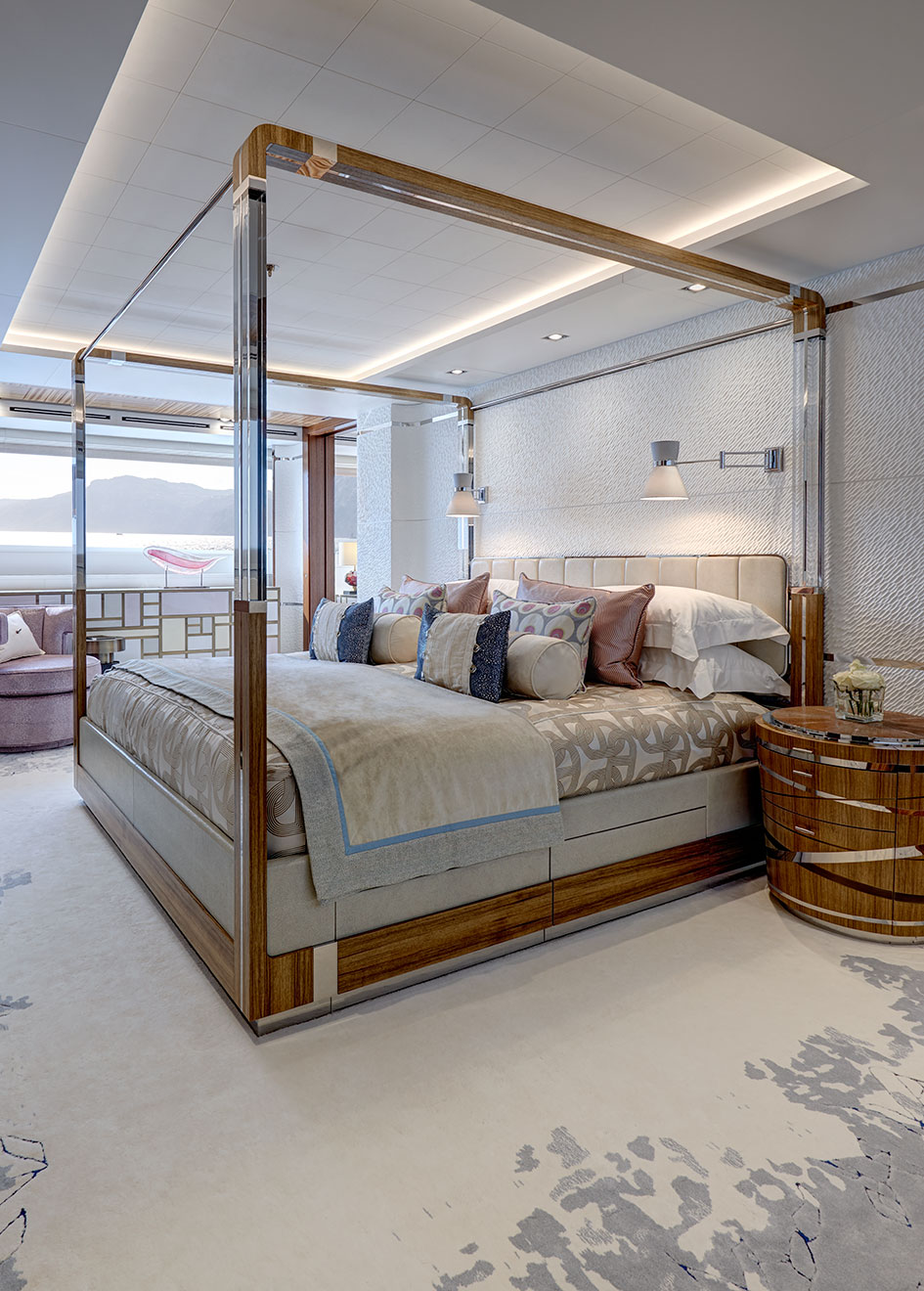 highly personal interior bedroom Moon sand