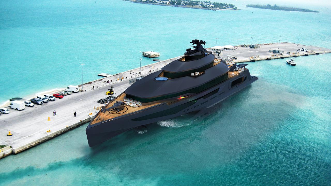 Fierce Calibre 102M Yacht Concept Fit For A Bond Villain