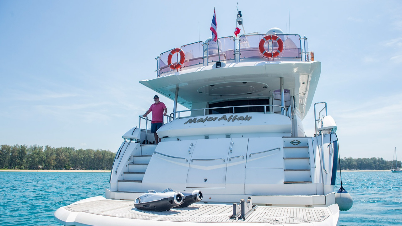 On board with William Heinecke, owner of 28m motor yacht