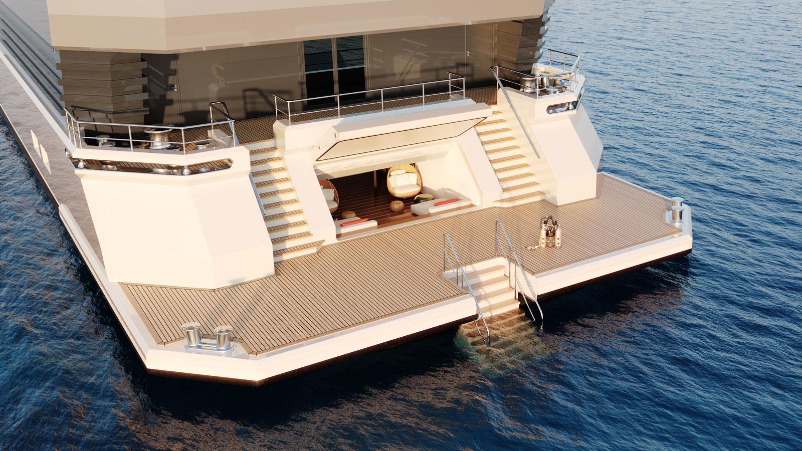 e075f5a0 6700 11eb 9c8d c5f4316e959e Damen Yachting SeaXplorer 77 swim platform