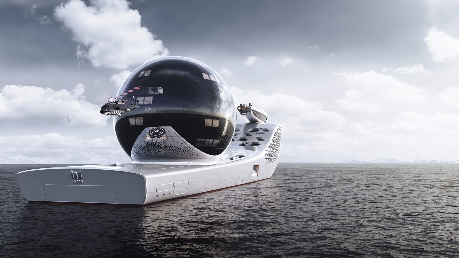 """Inside the 300m exploration vessel complete with a """"science sphere"""" and 22 onboard laboratories"""