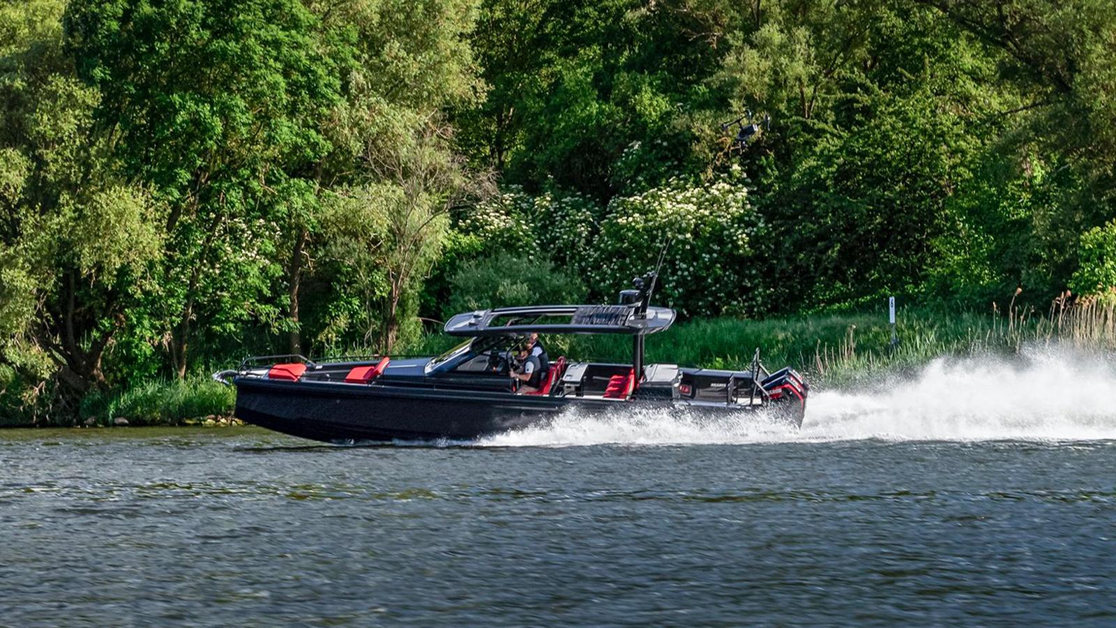 BRABUS Marine Shadow Black Ops dayboat running