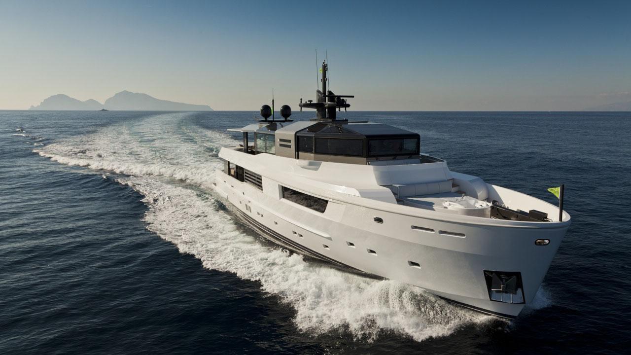m ocean motoryacht arcadia yachts 2012 35m cruising half profile