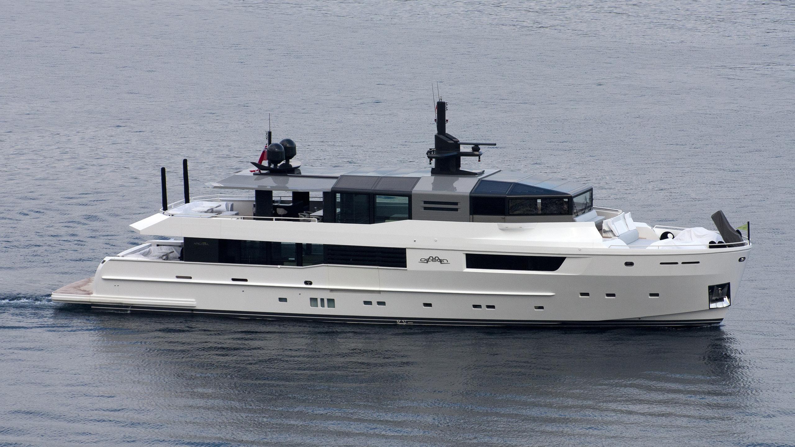 m ocean motoryacht arcadia yachts 2012 35m profile