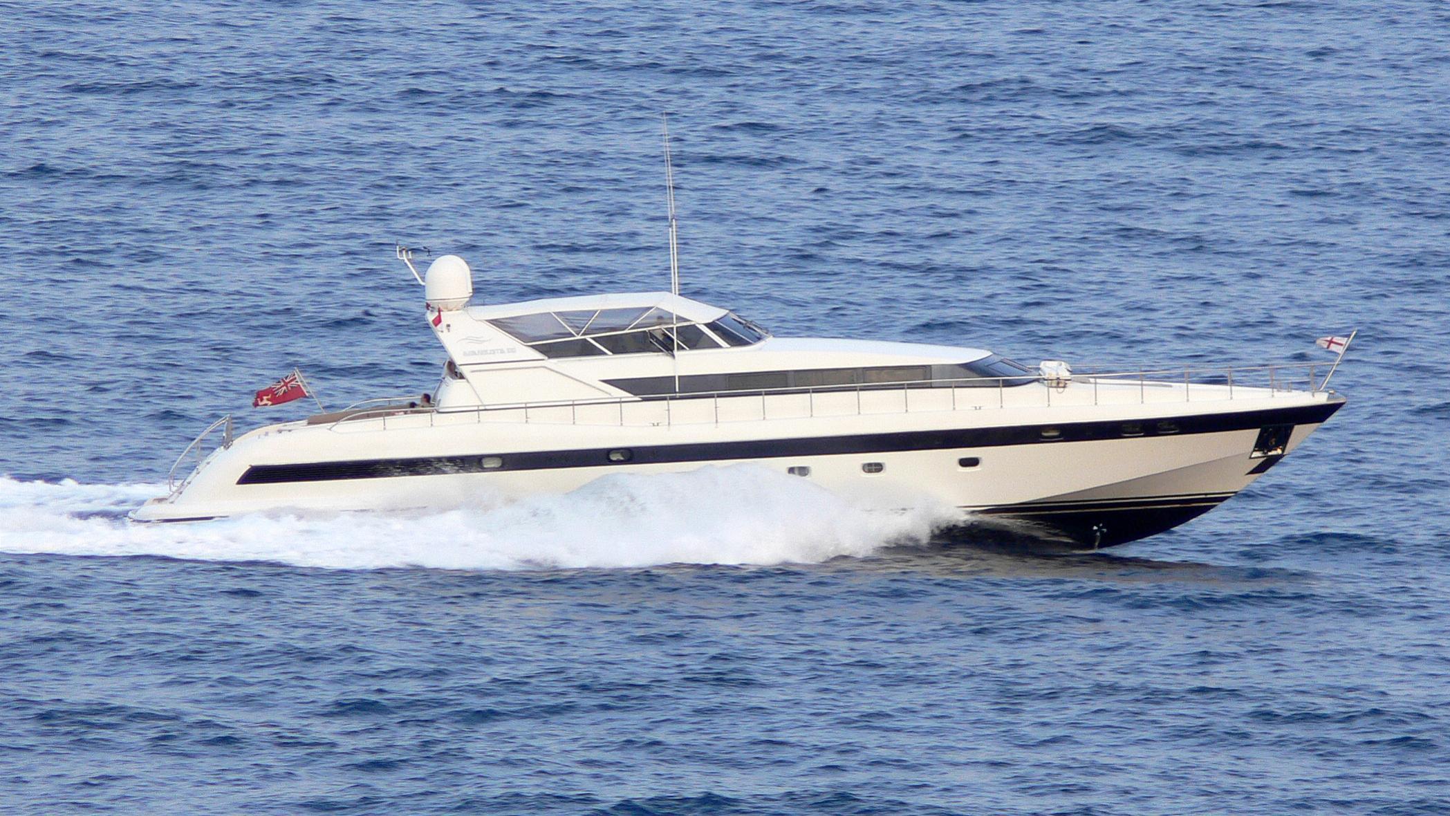 equilibrium motoryacht overmarine mangusta 100 1996 30m running profile