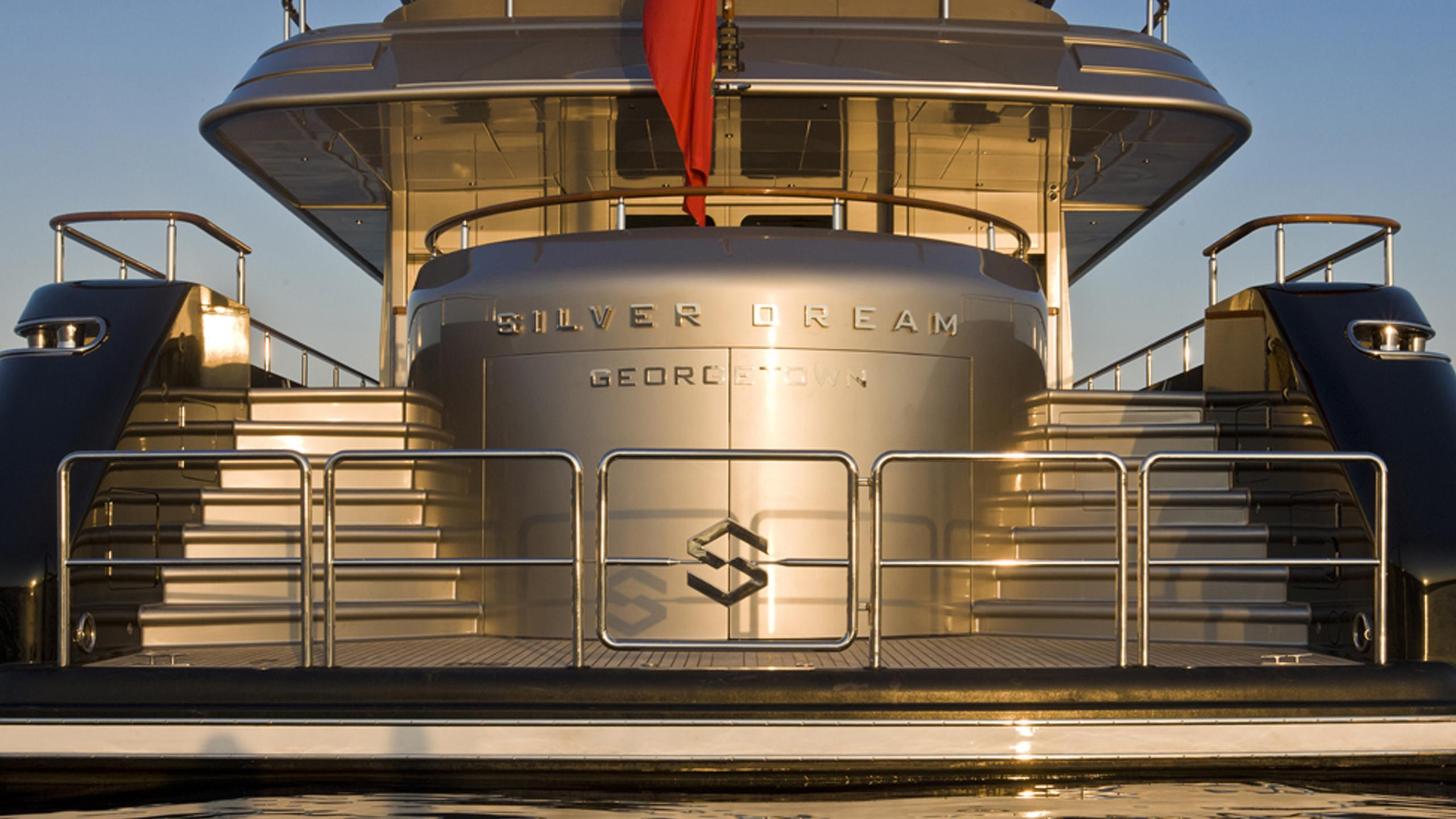 silver-dream-yacht-stern
