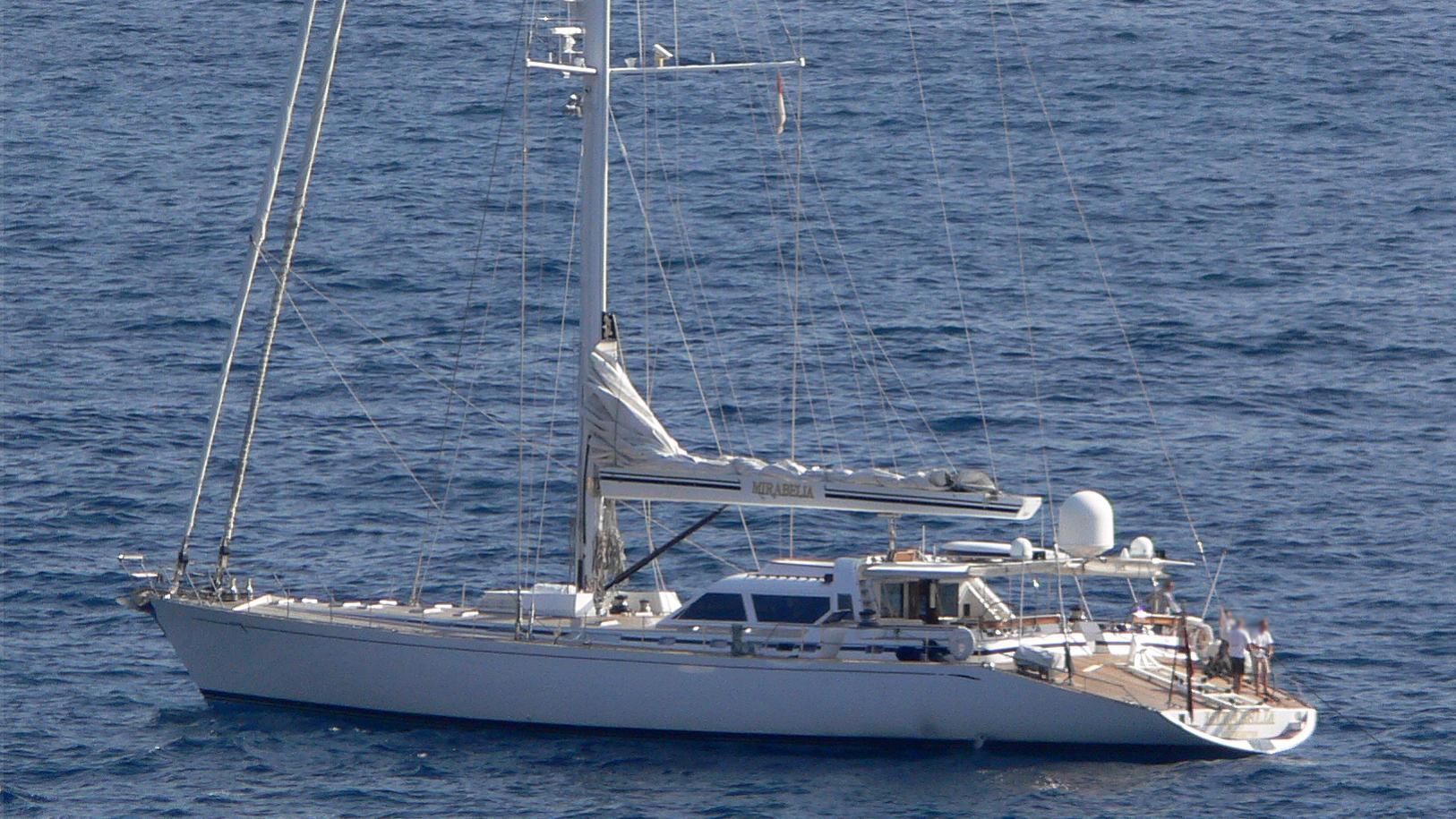 mirabella latitude sailing yacht concorde 40m 1992 half stern before refit