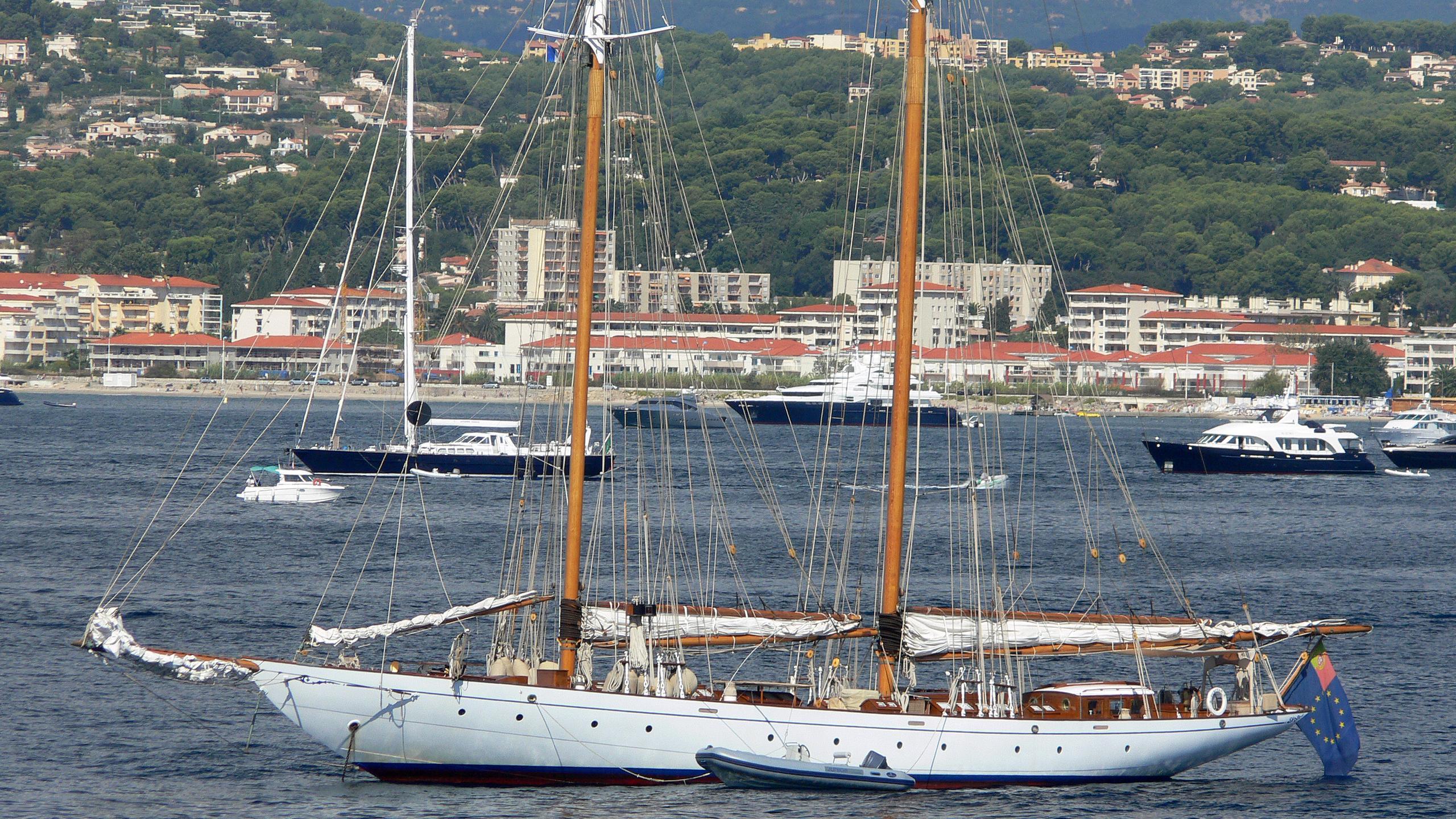 puritan sailing yacht elco 38m 1931 profile