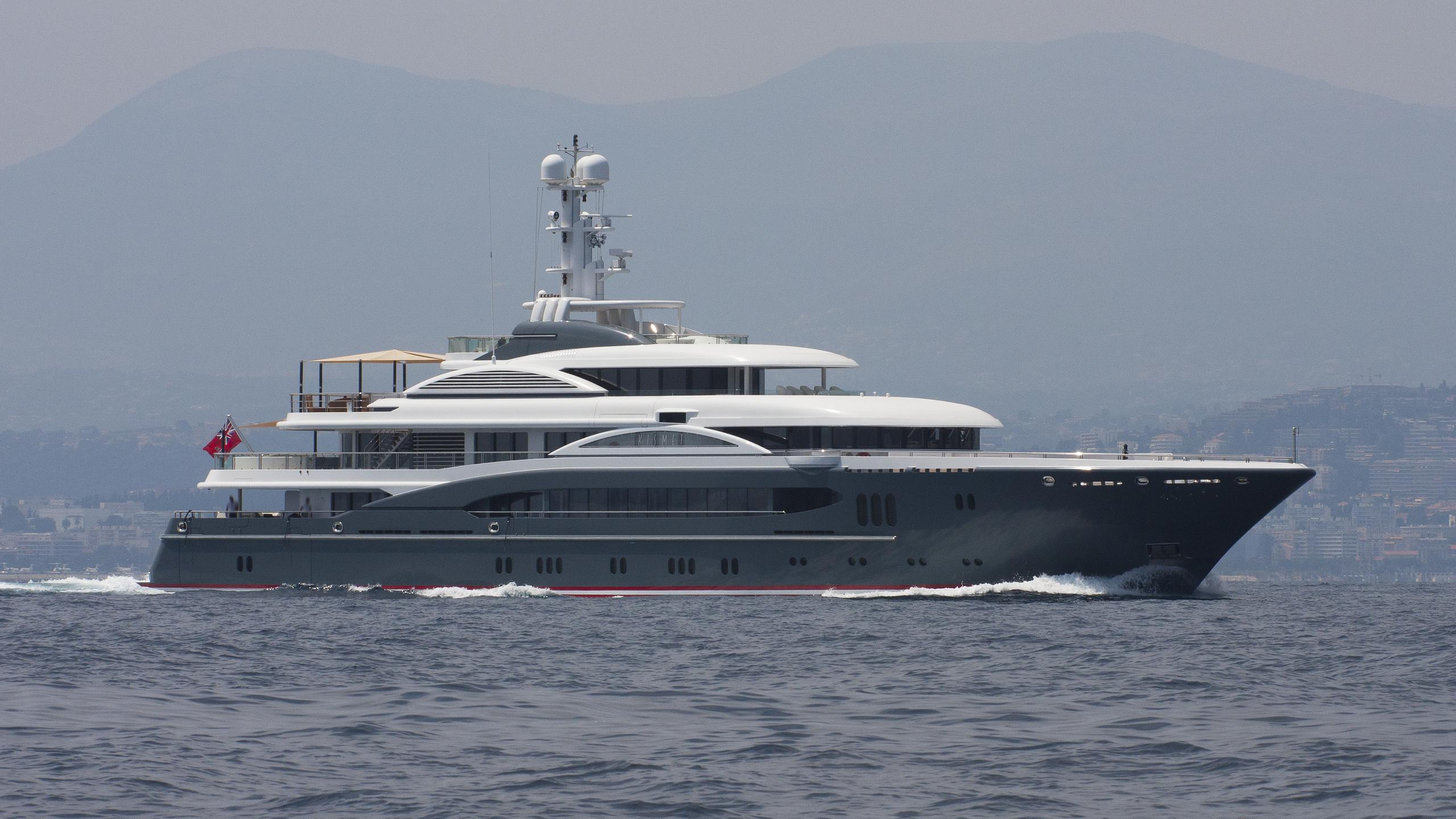 global kismet motor yacht lurssen 2007 74m cruising before refit