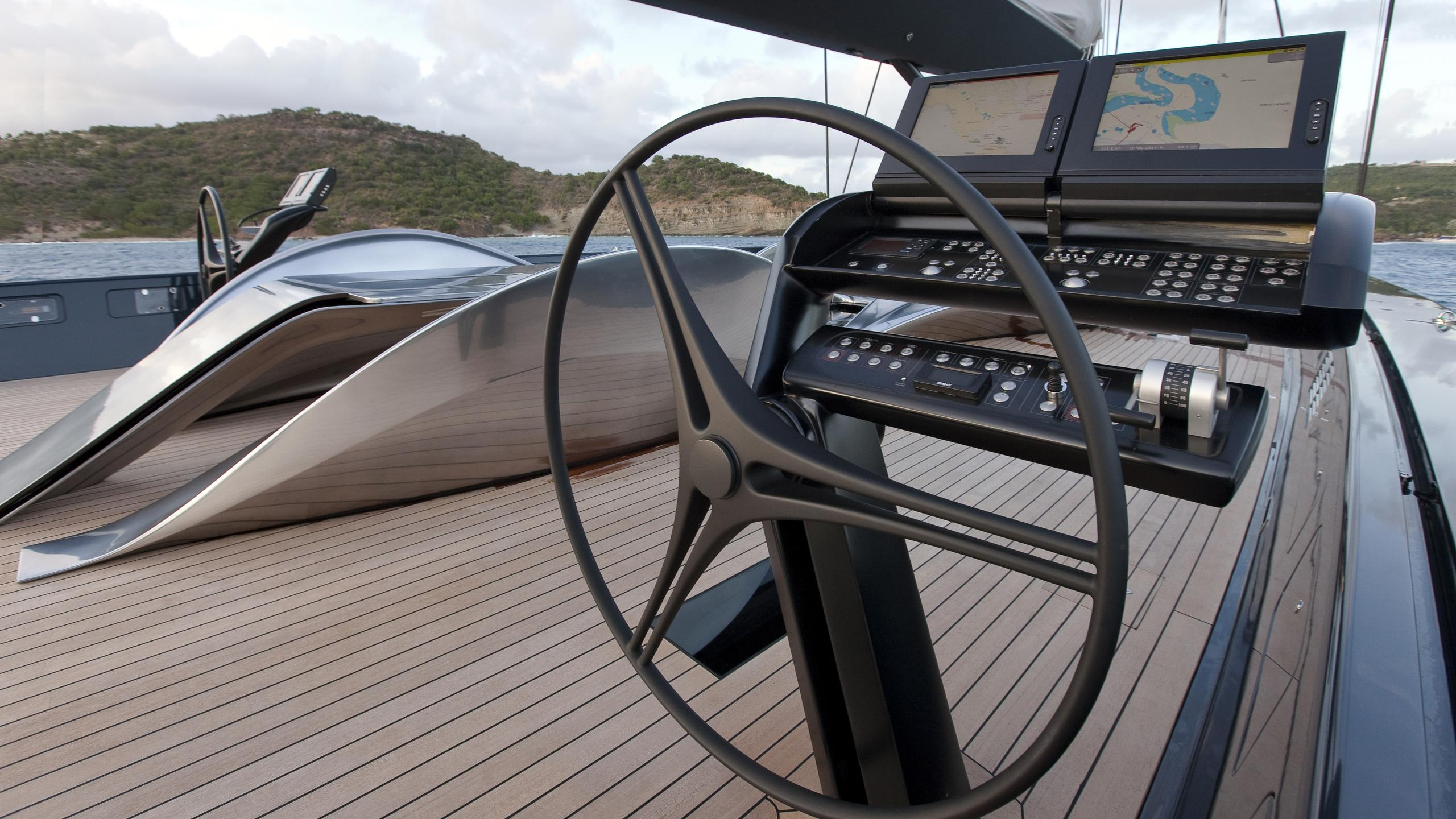 black sails angels share dream sailing yacht wally 40m 2009 helm