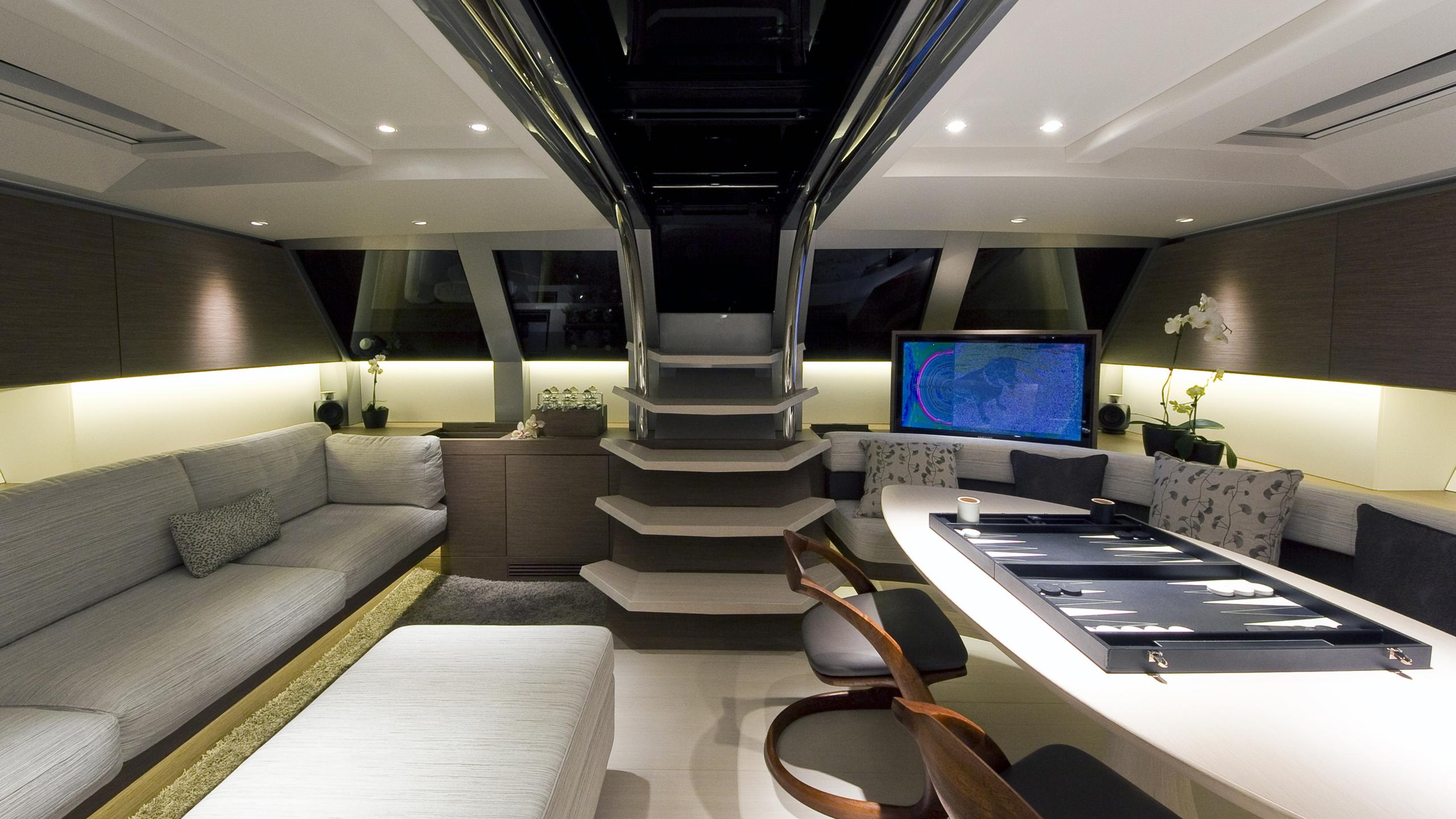 black sails angels share dream sailing yacht wally 40m 2009 saloon