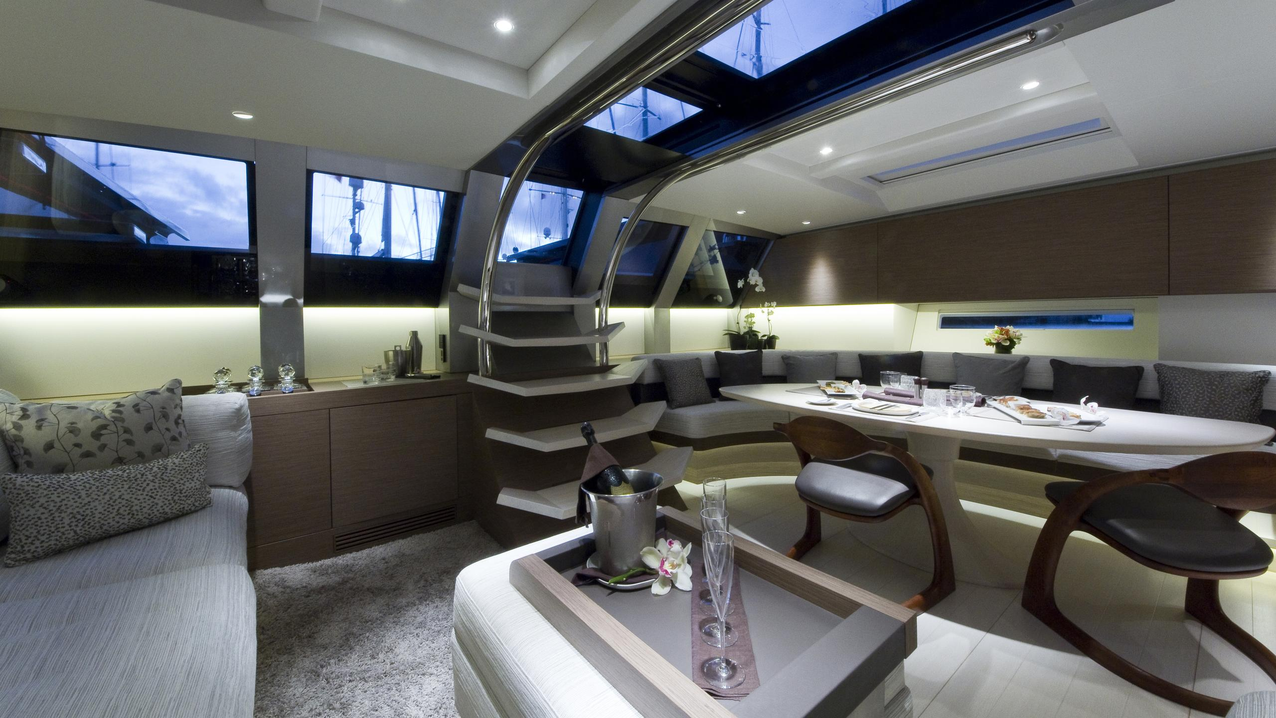 black sails angels share dream sailing yacht wally 40m 2009 dining area
