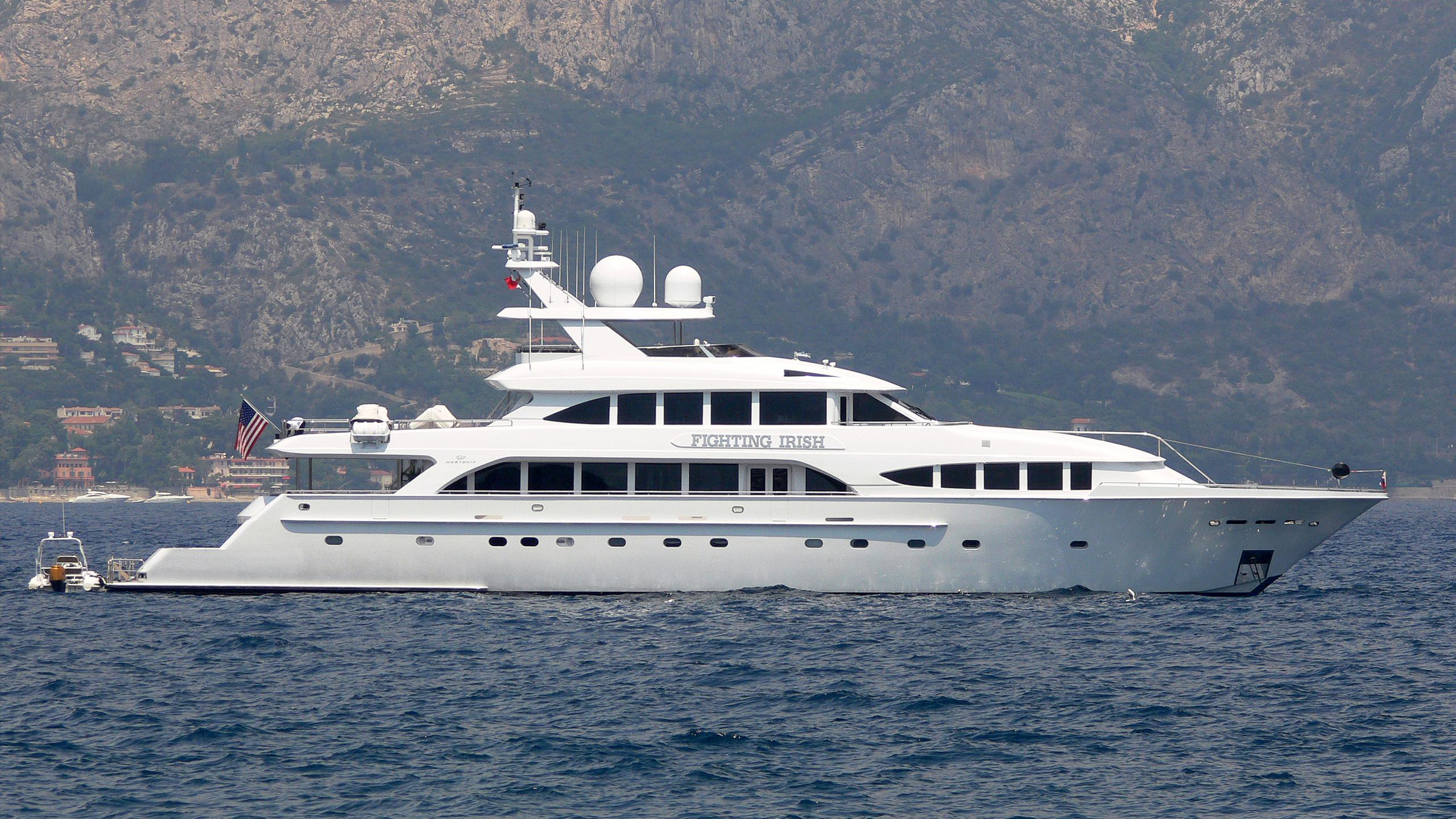 tanzanite fighting irish motoryacht westship 44m 2004 profile before refit