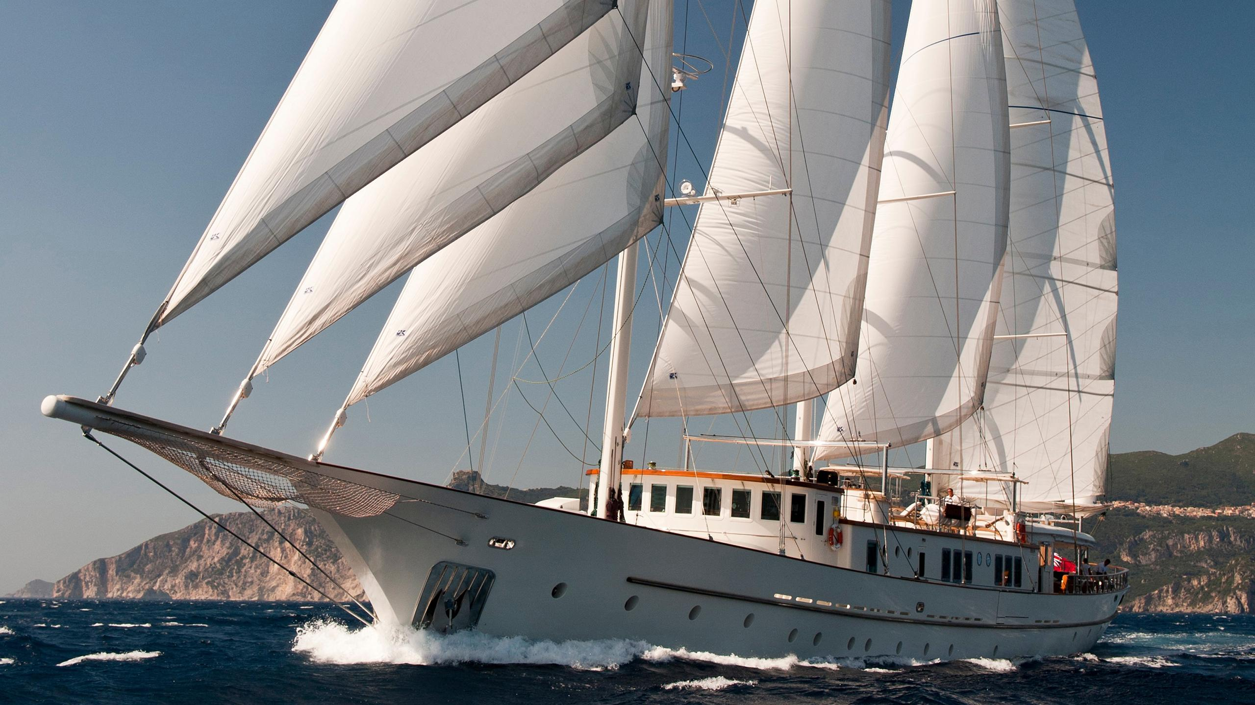 loretta montigne sailing yacht aegean yacht 57m 2009 half profile
