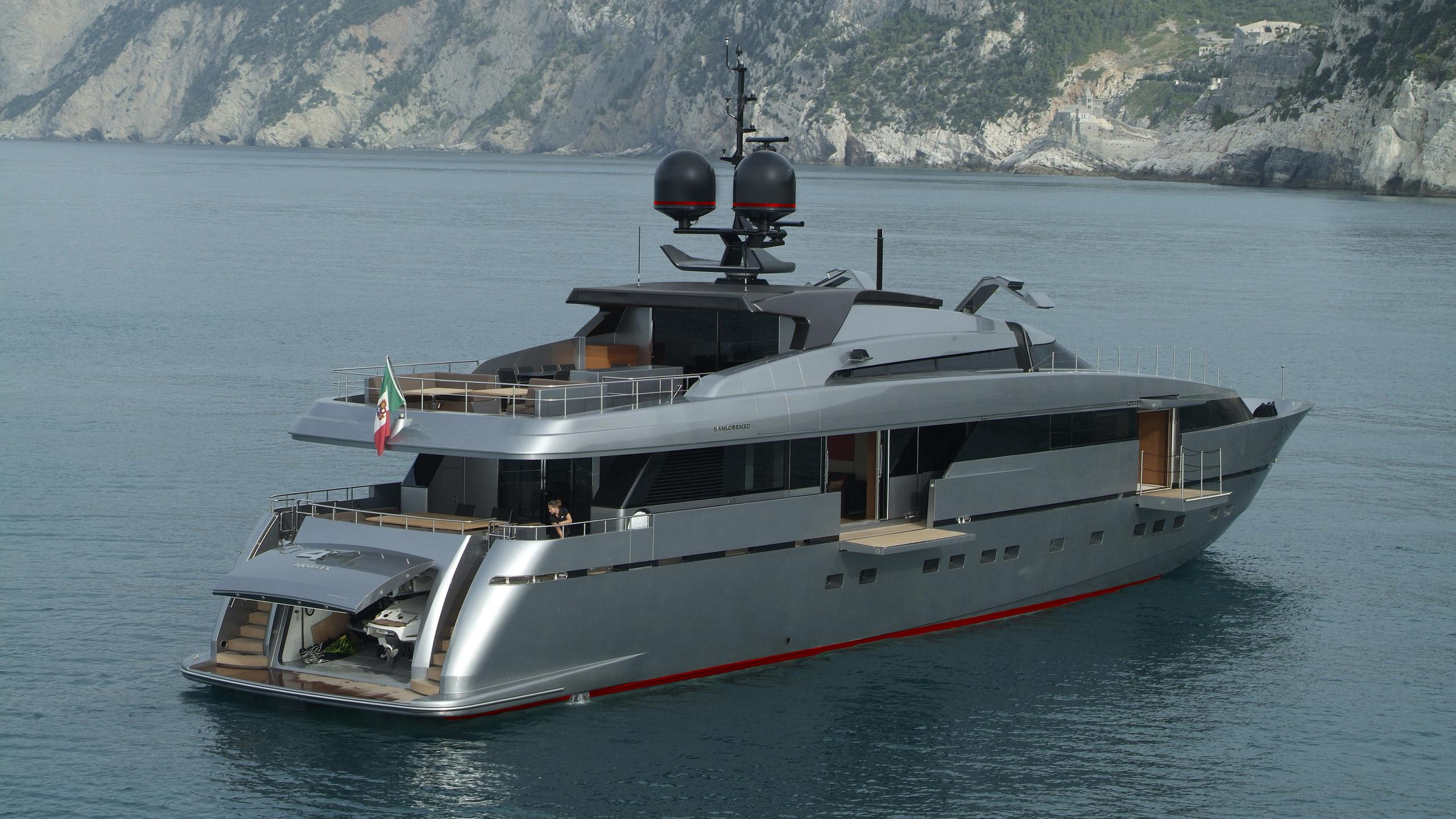 tesoro scorpion motoryacht sanlorenzo alloy 40m 2011 half stern