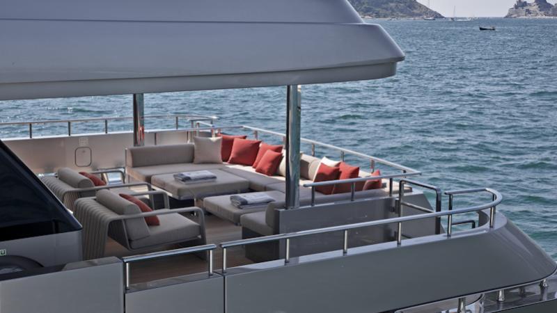 tesoro scorpion motoryacht sanlorenzo alloy 40m 2011 aft deck