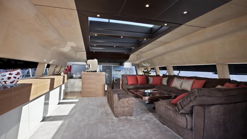 tesoro scorpion motoryacht sanlorenzo alloy 40m 2011 sky lounge