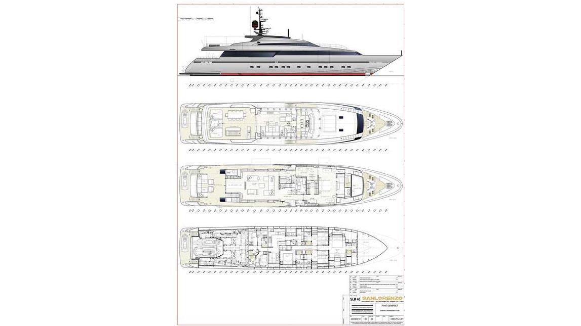 tesoro scorpion motoryacht sanlorenzo alloy 40m 2011 ga