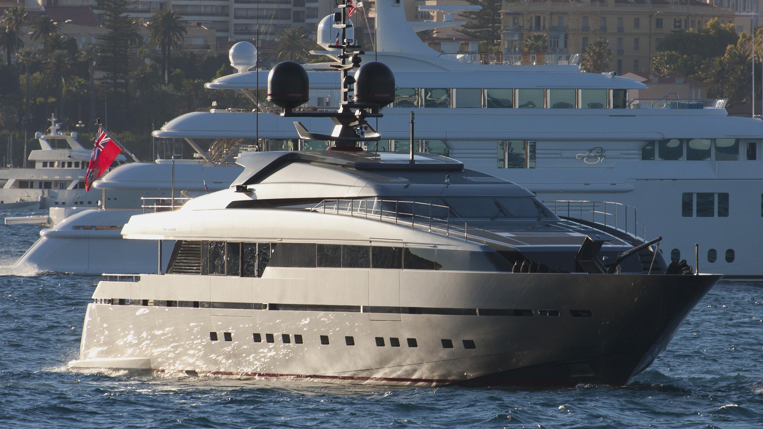 tesoro scorpion motoryacht sanlorenzo alloy 40m 2011 half profile
