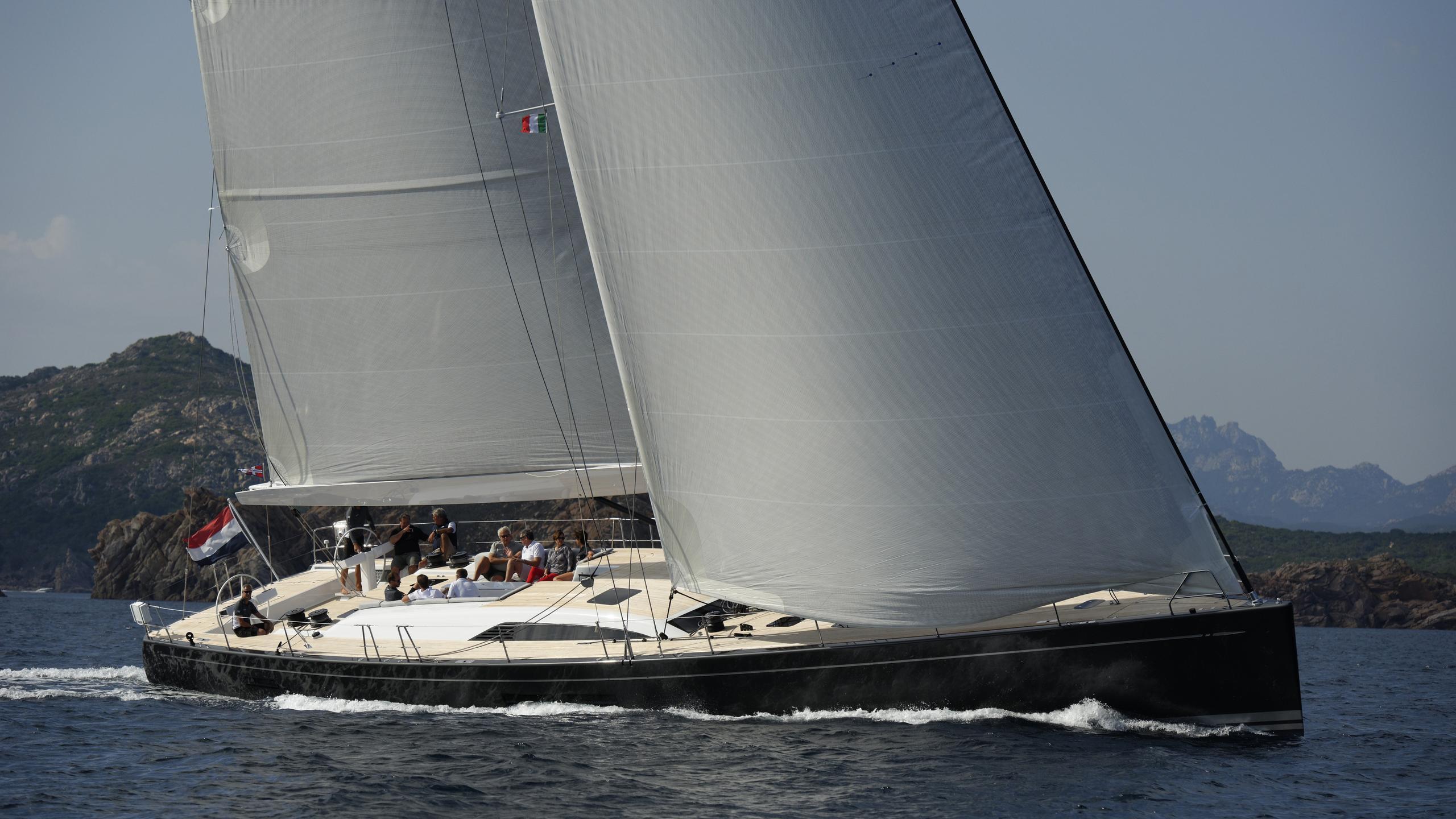 my1 iamsterdam sailing yacht nautors swan 25m 2012 half profile