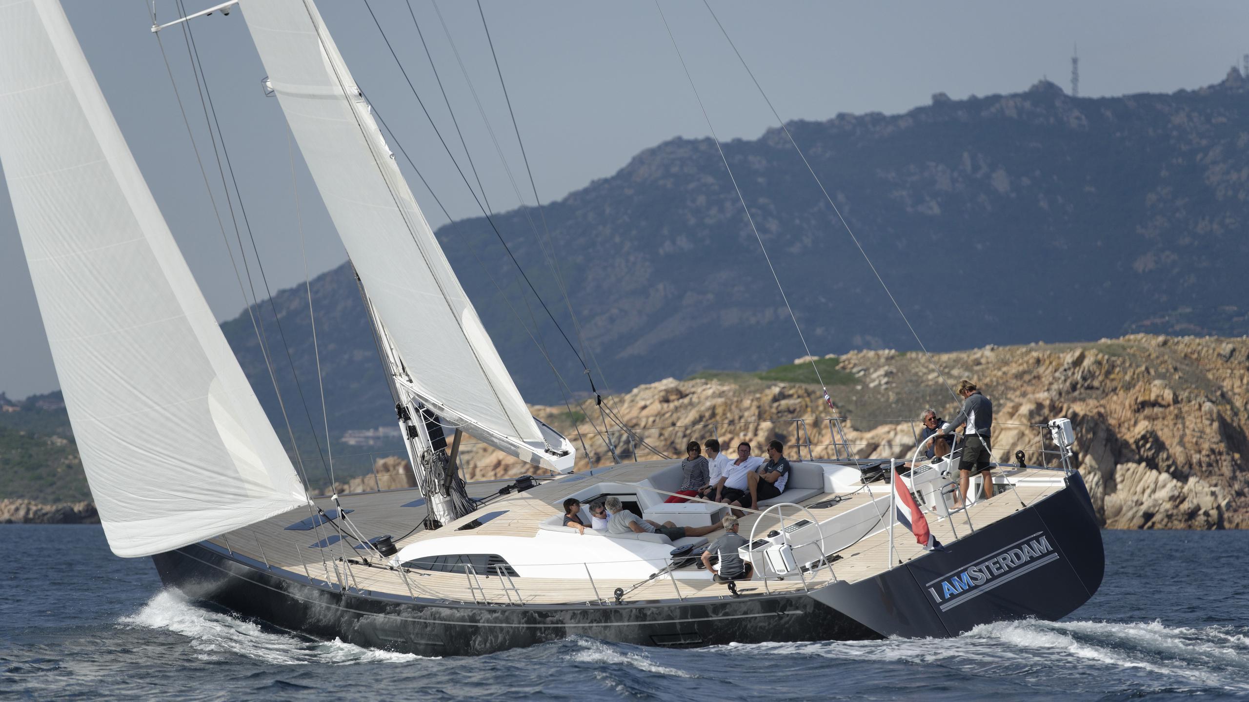 my1 iamsterdam sailing yacht nautors swan 25m 2012 half stern