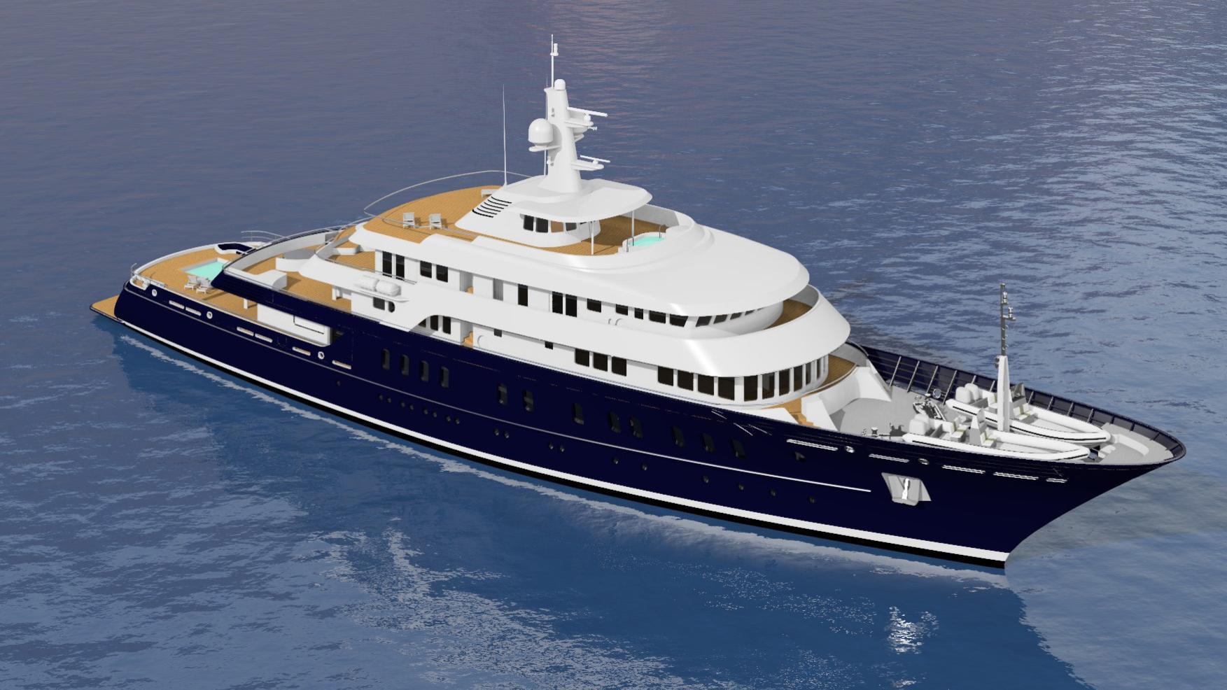 grand seraglio motoryacht akship 82m 2019 rendering half profile