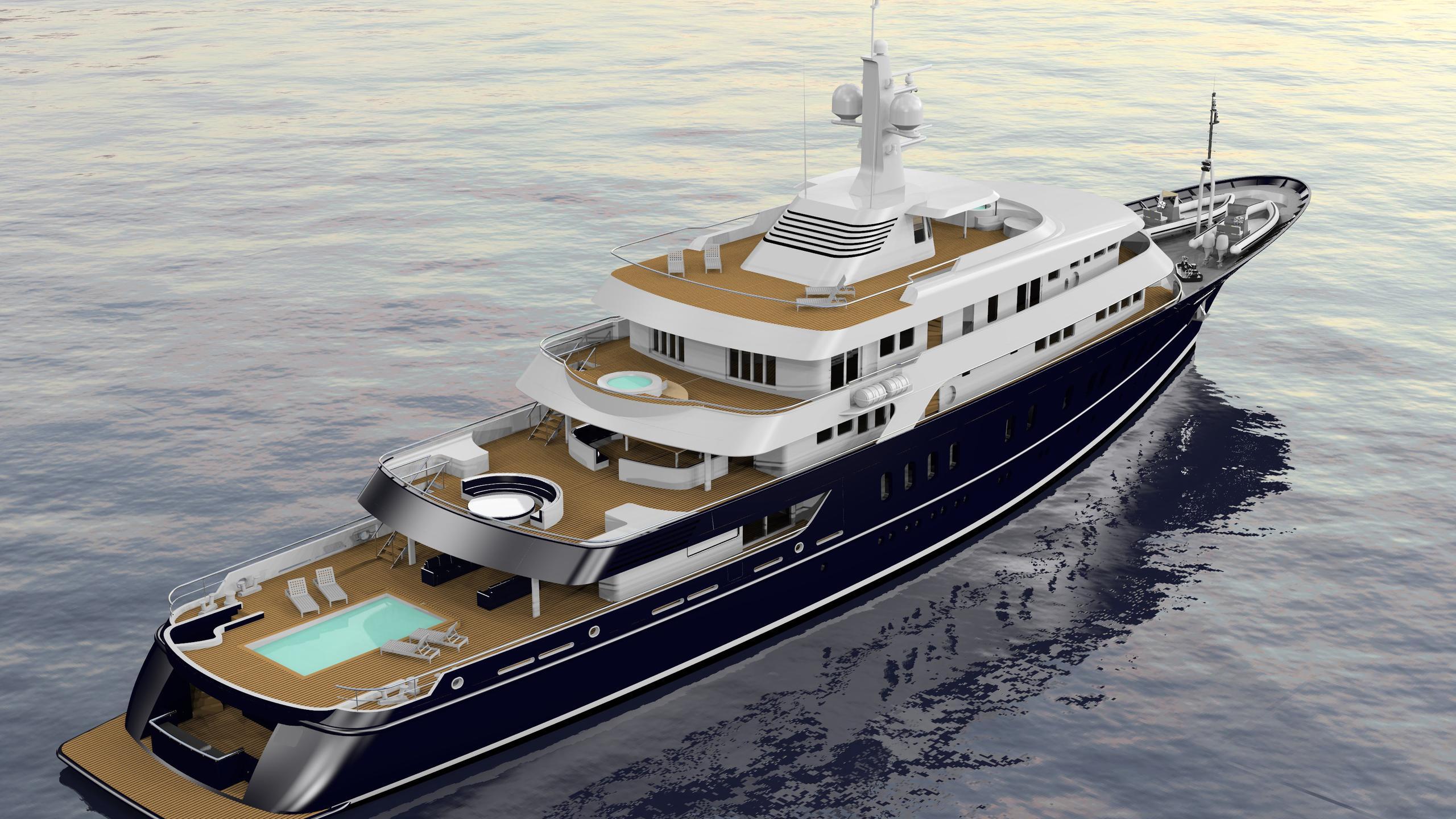 grand seraglio motoryacht akship 82m 2019 rendering half stern