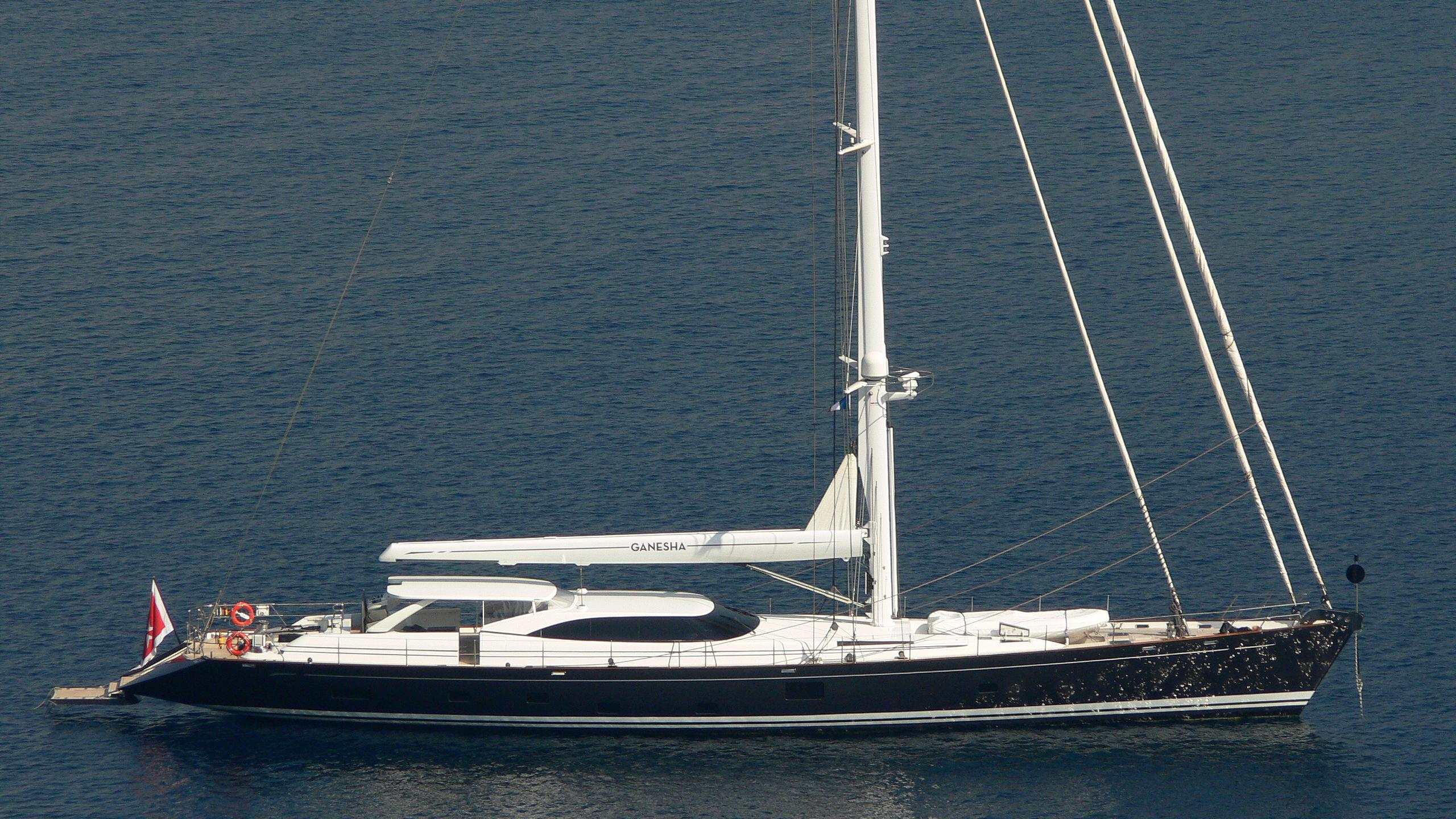 mia cara ganesha sailing yacht fitzroy yachts 39m 2006 profile