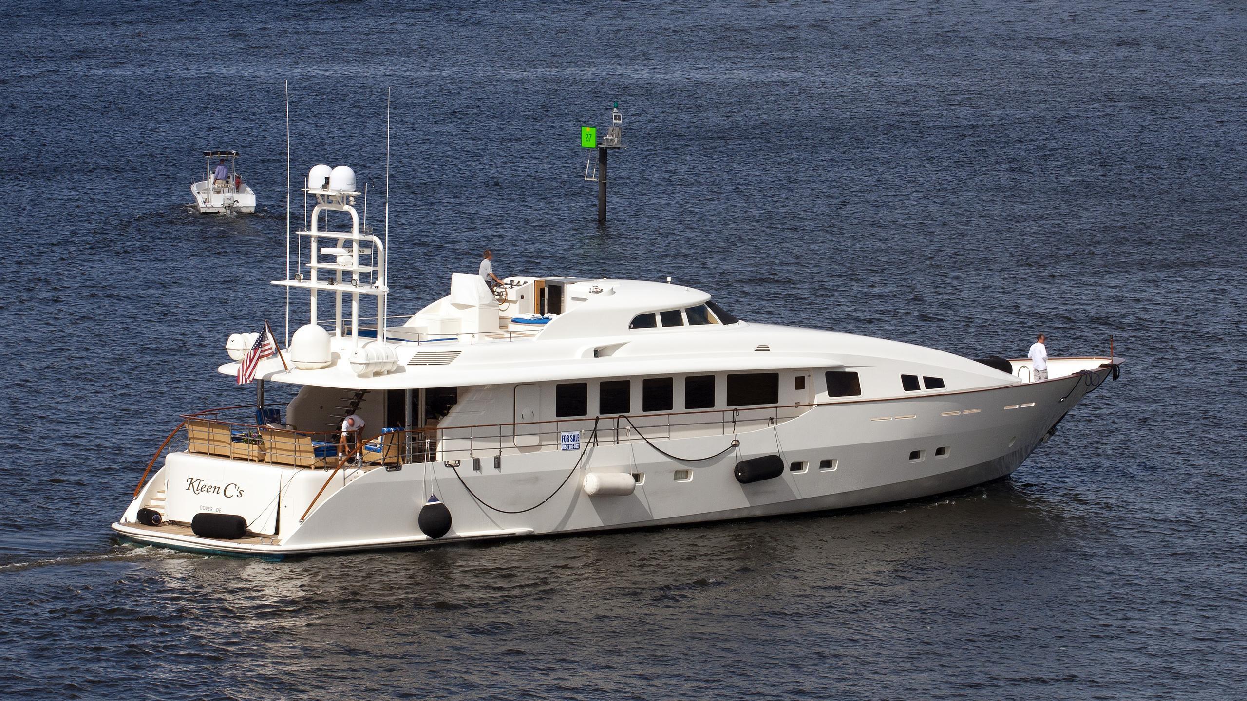 angele motoryacht custom 33m 1999 half stern