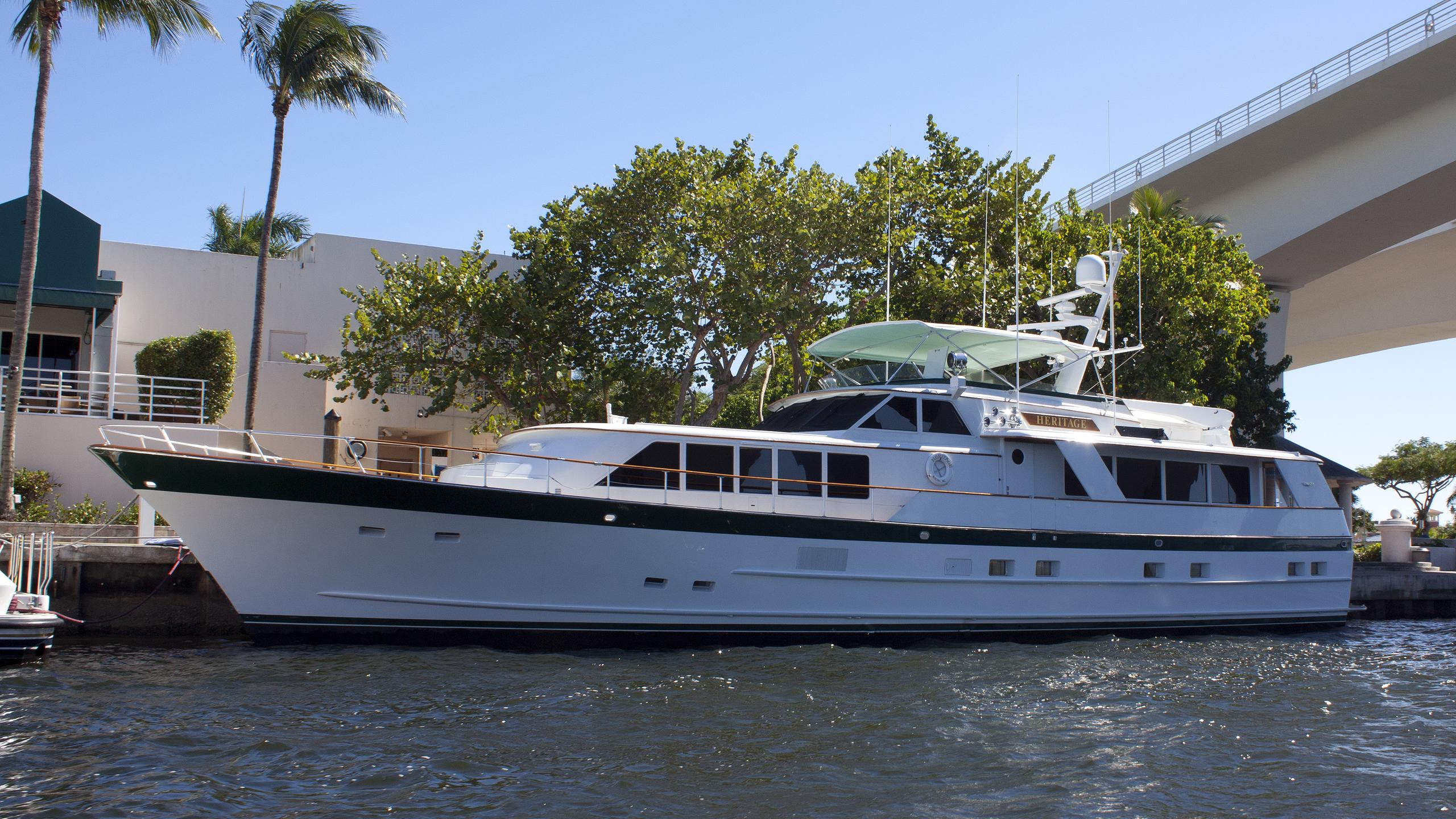 heritage motoryacht burger boat 1987 27m profile