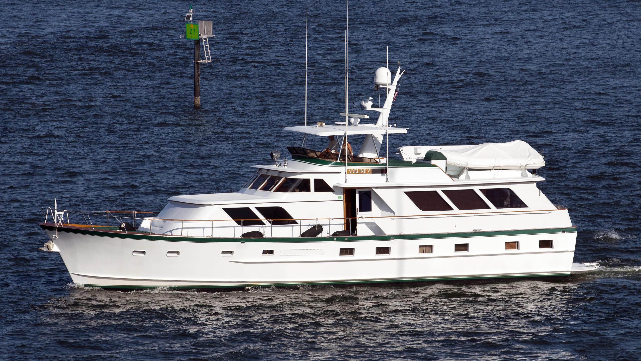 patience motoryacht broward 25m 1982 profile before stern refit
