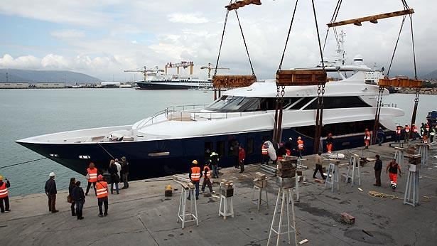 Super Yacht Ouranos launch