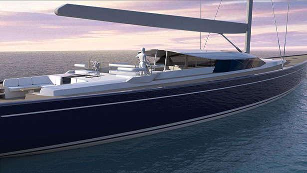 sailing yacht blue papillon