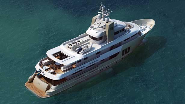 super yacht E&E aerial view