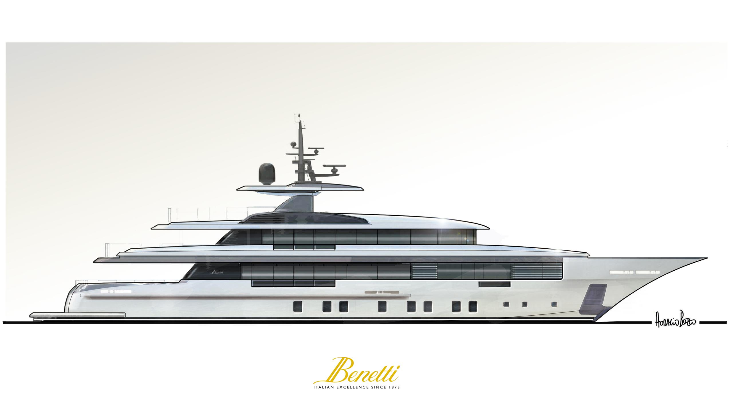 project zafiro fb702 motoryacht benetti yachts 48m 2018 rendering