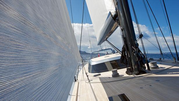 Sailing Yacht Sarissa Deck View