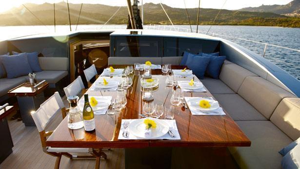 Sailing Yacht Sarissa Cockpit