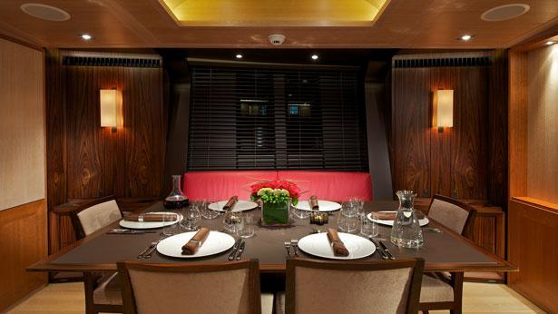 Sailing Yacht Sarissa Dining room