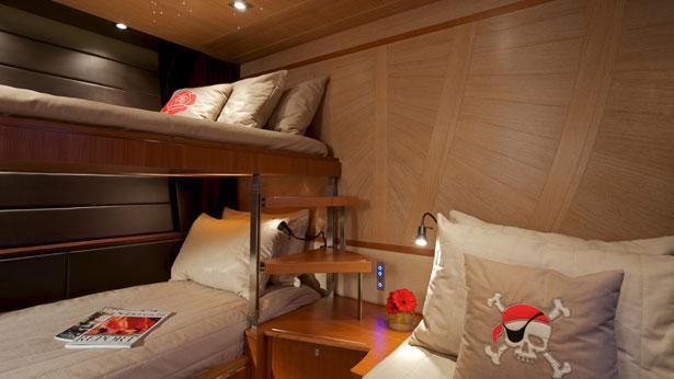 Sailing Yacht Sarissa kids' cabin