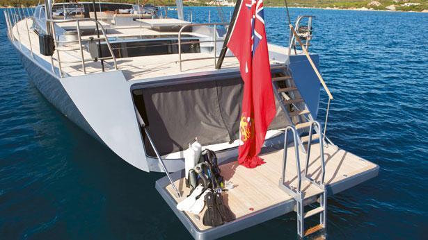 Sailing Yacht Sarissa aft deck