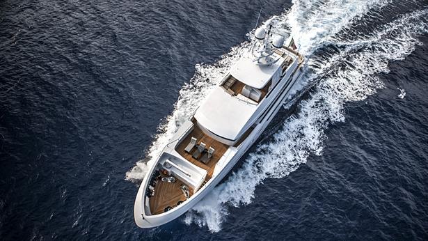 Super Yacht Okko aerial view