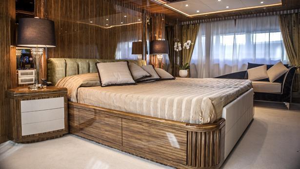 Super Yacht Okko master cabin